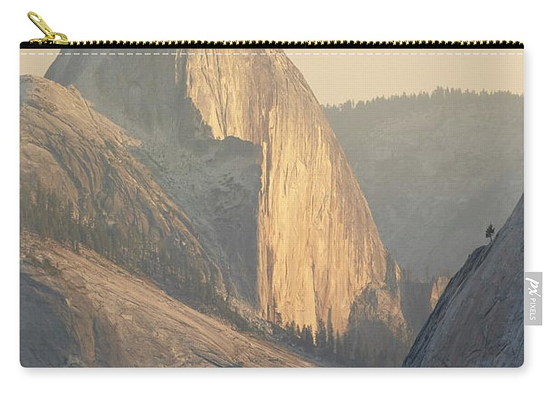 Scenics Carry-all Pouch featuring the photograph Half Dome At Sunset, Olmsted Point by James Hager / Robertharding