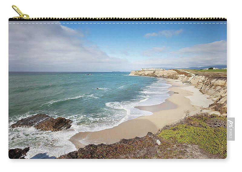 Water's Edge Carry-all Pouch featuring the photograph Half Moon Bay California by Stevegeer