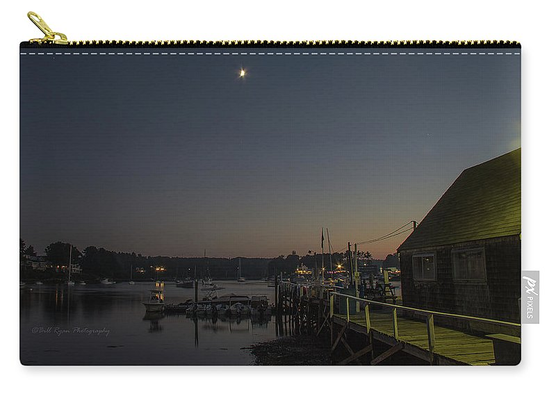 Half Moon Carry-all Pouch featuring the photograph Half Moon Over Hide-away Area by Bill Ryan