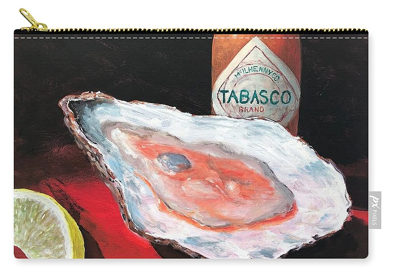 Oyster Carry-all Pouch featuring the painting Half Shell by Paul Emig