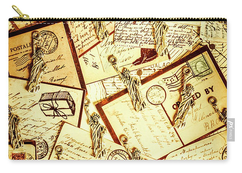 Landmark Carry-all Pouch featuring the photograph Hallmarks Of Travelling Old by Jorgo Photography - Wall Art Gallery