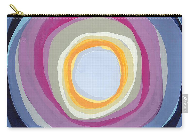 Abstract Carry-all Pouch featuring the painting Hang Cool by Claire Desjardins