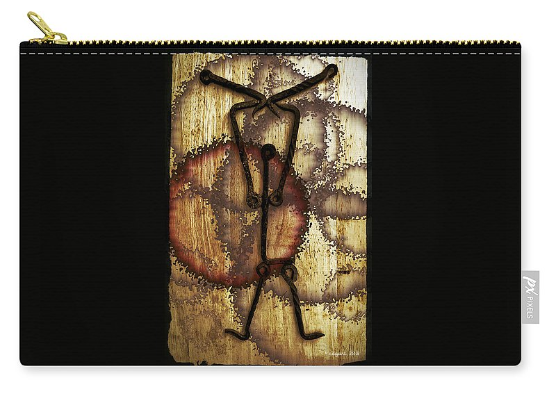 Digital Art Carry-all Pouch featuring the digital art Hanging On by Edgar Torres