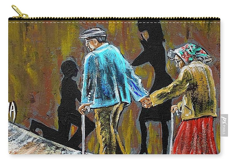 Love Carry-all Pouch featuring the painting Happiness Happened by Artist RiA