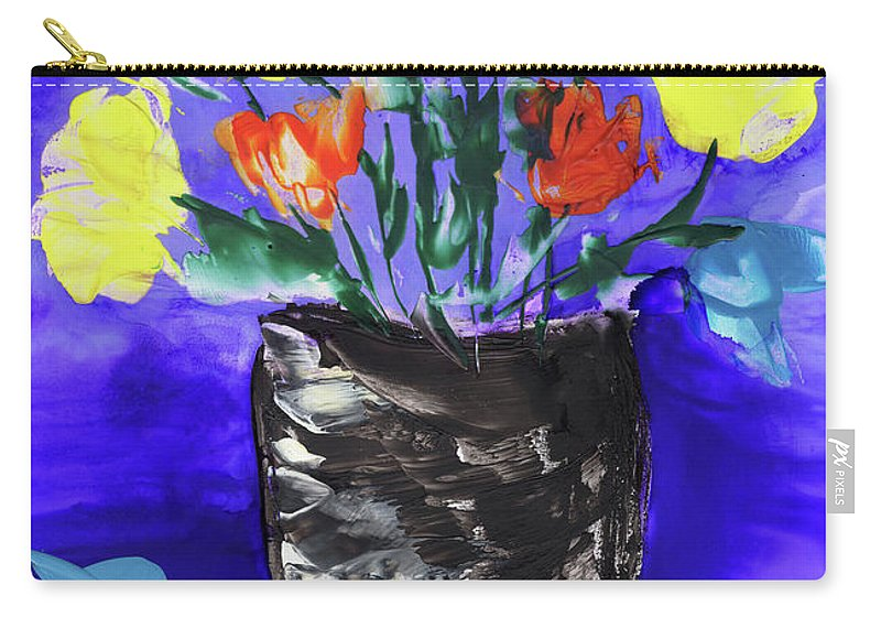 Encaustic Carry-all Pouch featuring the painting Happy Anniversary by Diane Maley
