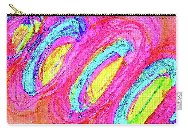 Abstract Carry-all Pouch featuring the mixed media Happy Genes by Karen Szybalski