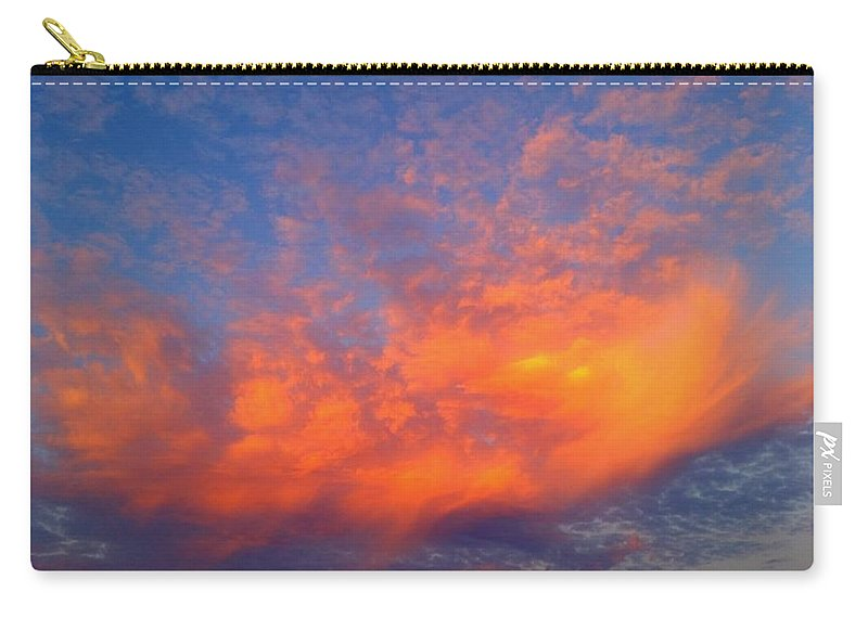 Happy Cloud Carry-all Pouch featuring the photograph Happy Little Cloud by Ally White