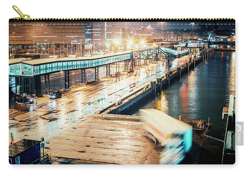 Industrial District Carry-all Pouch featuring the photograph Harbor Area by Peeterv