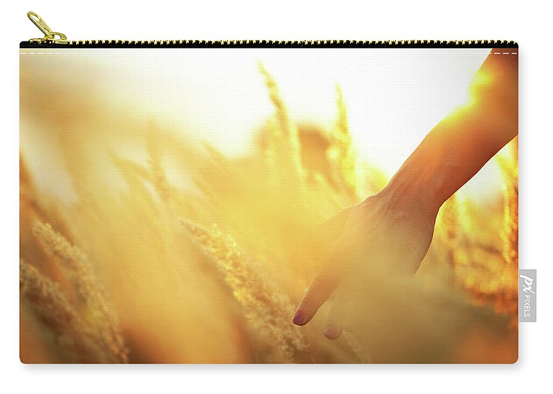 Farm Worker Carry-all Pouch featuring the photograph Harvest In The Morning by Aleksandarnakic
