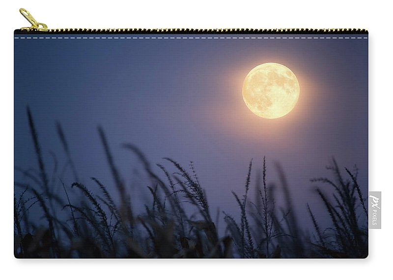 Sky Carry-all Pouch featuring the photograph Harvest Moon by Jimkruger