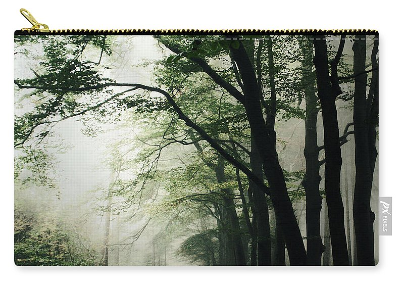 Scenics Carry-all Pouch featuring the photograph Haunted Forest by Bob Van Den Berg Photography