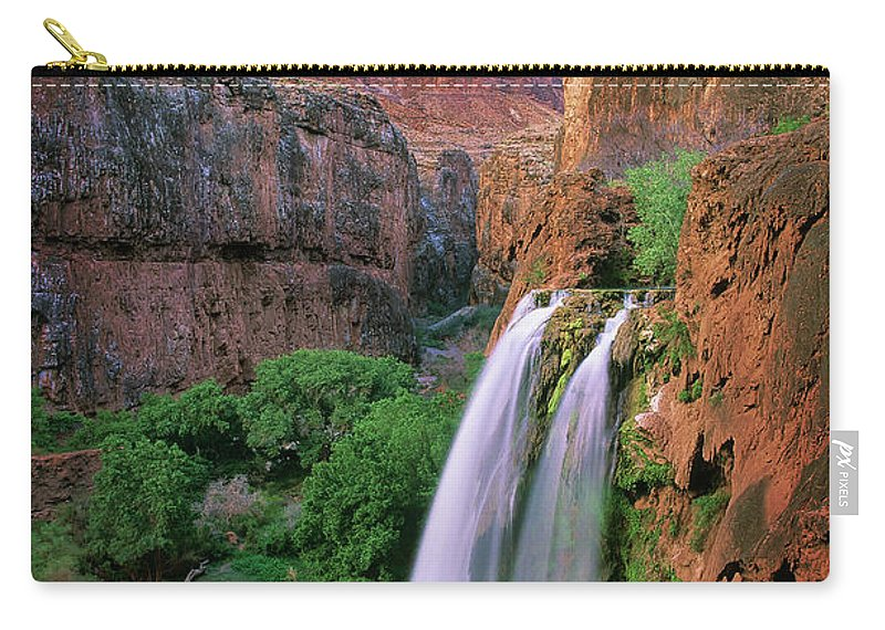 America Carry-all Pouch featuring the photograph Havasu Falls by Inge Johnsson