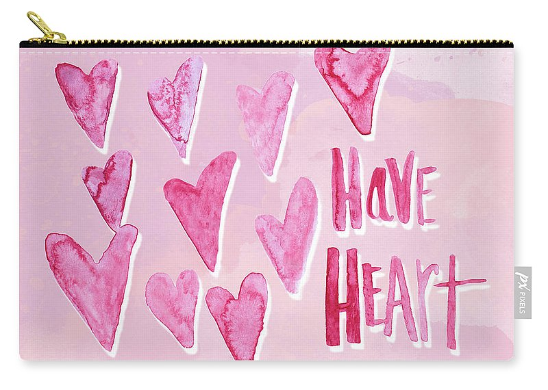 Have Carry-all Pouch featuring the mixed media Have Heart by Sd Graphics Studio