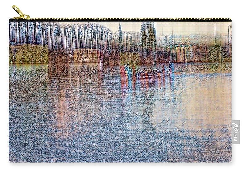 Bridge Carry-all Pouch featuring the digital art Hawthorn Bridge by W I L L Alexander