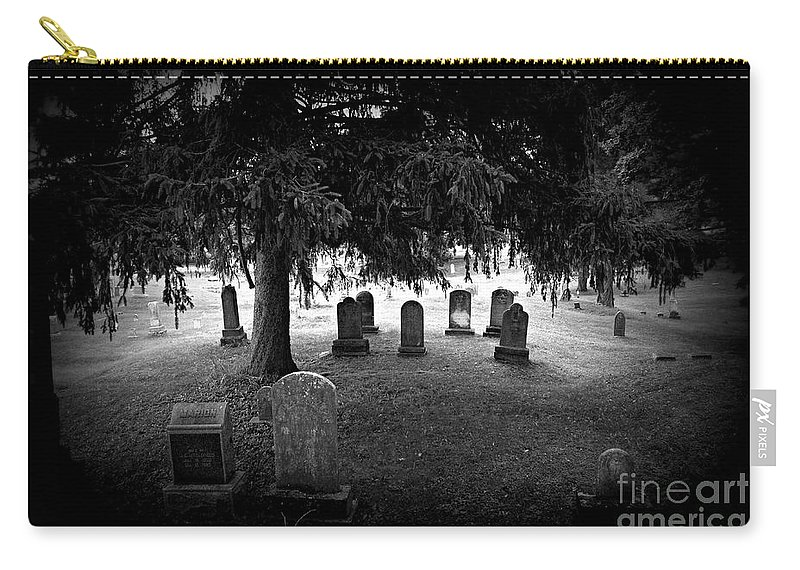 Cemetery Carry-all Pouch featuring the photograph He Did The Mash by Scott Ward