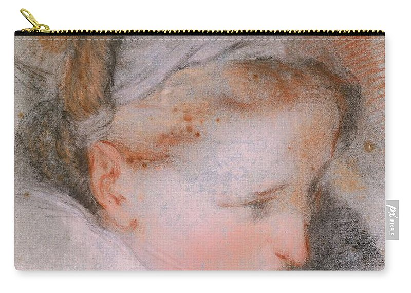 Federico Barocci (1535–1612 Carry-all Pouch featuring the painting Head Of A Woman       by Federico Barocci