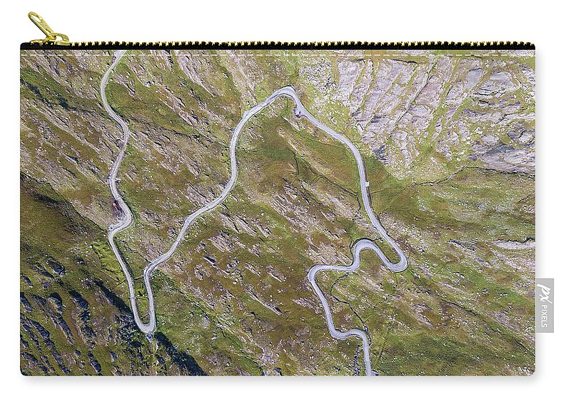 Road Carry-all Pouch featuring the photograph Healy Pass, Wild Atlantic Way by Philip Mulhall
