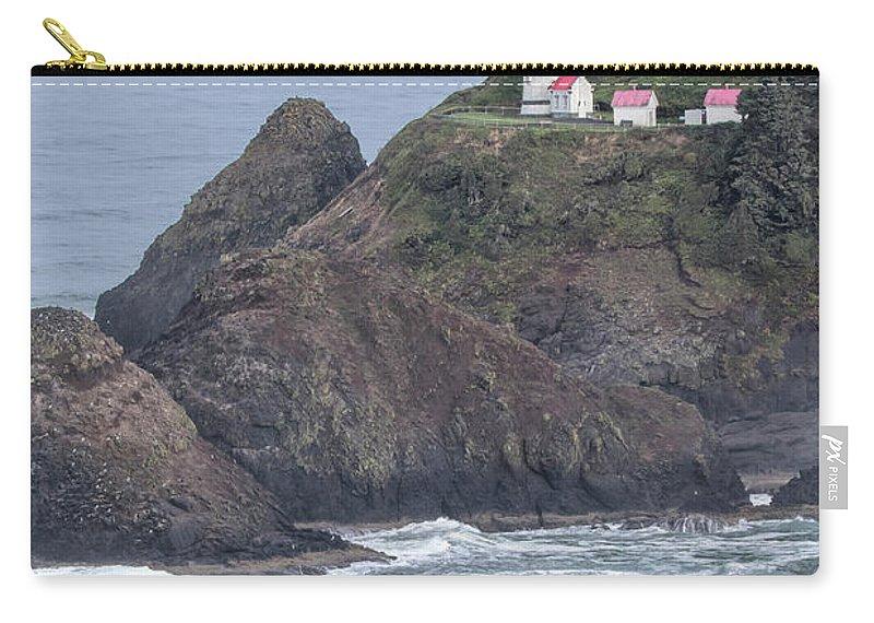 Heceta Head Lighthouse Carry-all Pouch featuring the photograph Heceta Head Light by Jurgen Lorenzen