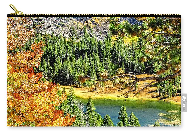 Mountain Carry-all Pouch featuring the photograph Hello Autumn by Marilyn Diaz