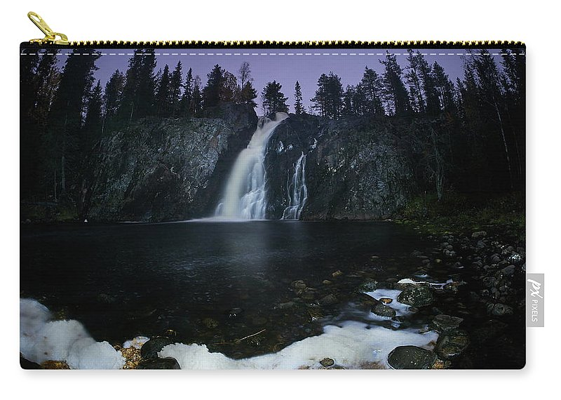 Finland Carry-all Pouch featuring the photograph Hepokongas Waterfall by Jouko Lehto