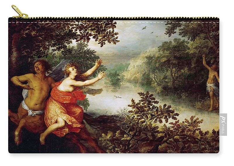 David Vinckboons Carry-all Pouch featuring the painting Hercules Dejaneira And The Centaur Nessus by David Vinckboons