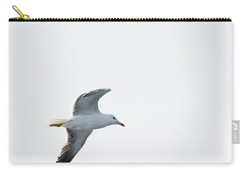 Sweden Carry-all Pouch featuring the photograph Herring Gull In Flight by Magnusson, Roine