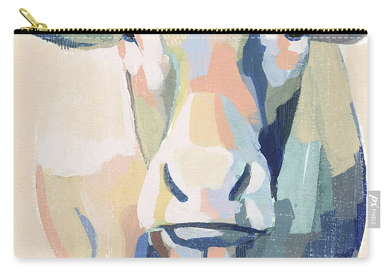 Animals & Nature+farm+cows & Sheep Carry-all Pouch featuring the painting Hertford Holstein II by Grace Popp