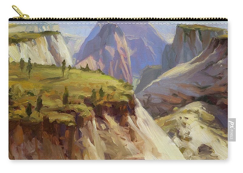 Zion Carry-all Pouch featuring the painting High On Zion by Steve Henderson