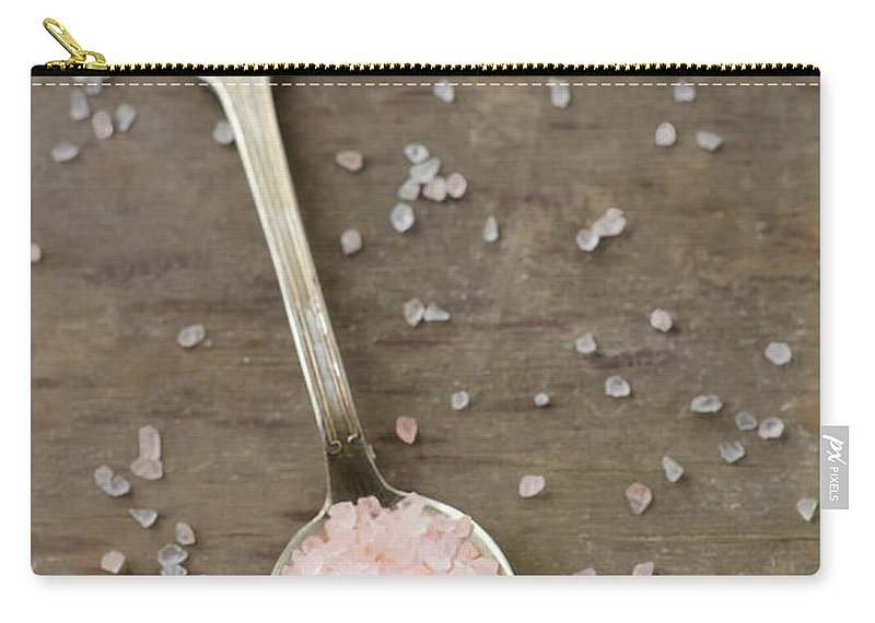 Mineral Carry-all Pouch featuring the photograph Himalayan Pink Sea Salt by Tania Mattiello