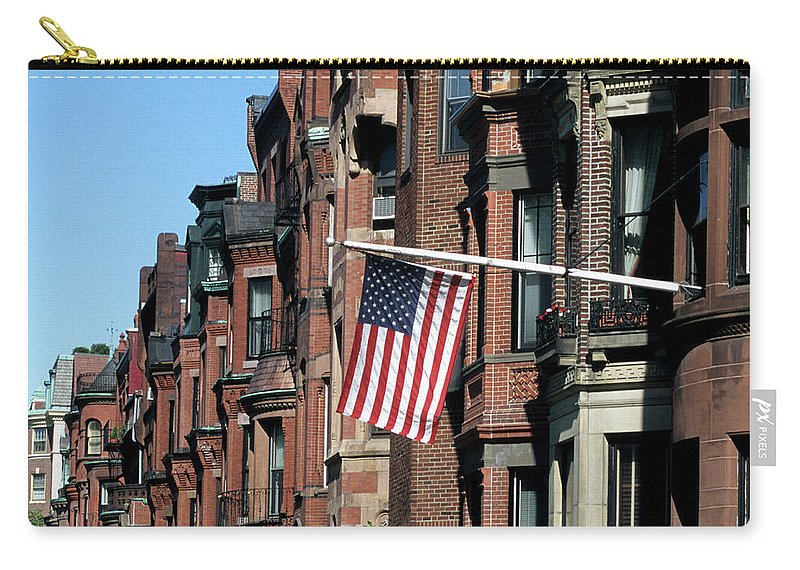 Row House Carry-all Pouch featuring the photograph Historic Back Bay Area, Boston by Hisham Ibrahim