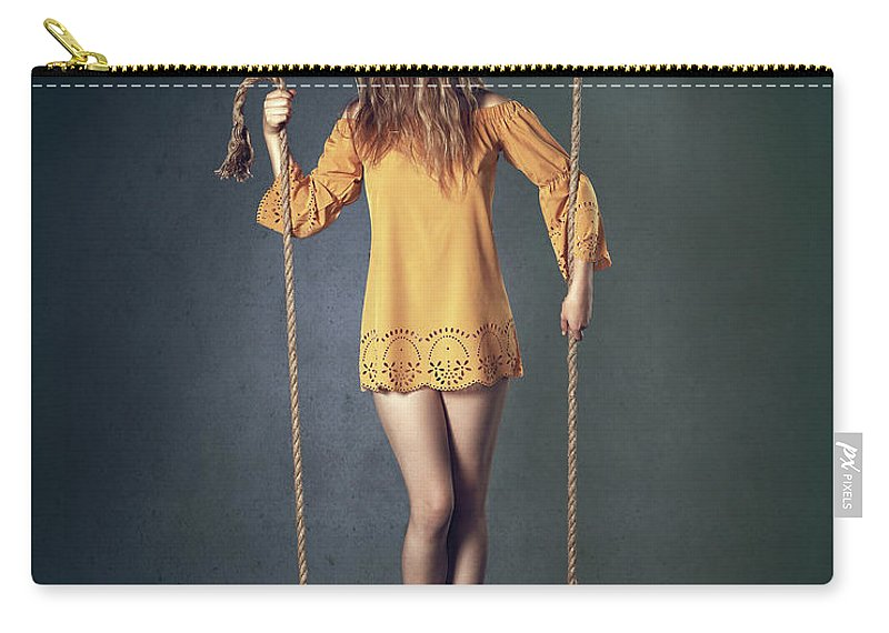 Woman Carry-all Pouch featuring the photograph Hold On Tight by Johan Swanepoel