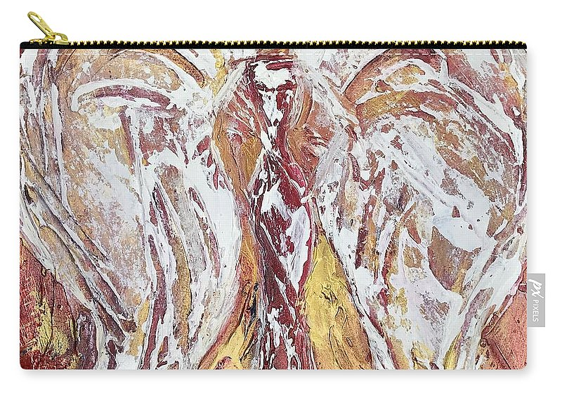 Abstract Angel Carry-all Pouch featuring the painting Morning Angel by Gina Parris