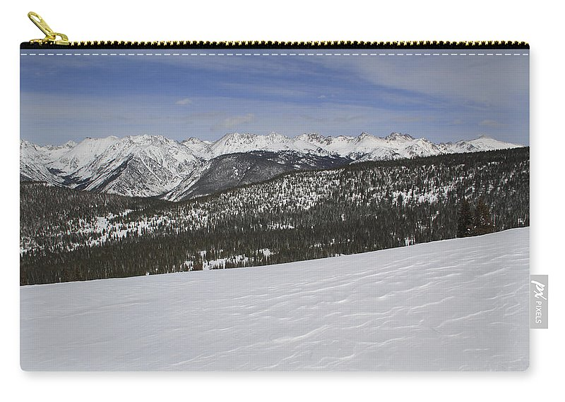 Scenics Carry-all Pouch featuring the photograph Holy Cross Wilderness Area In Winter by John Kieffer