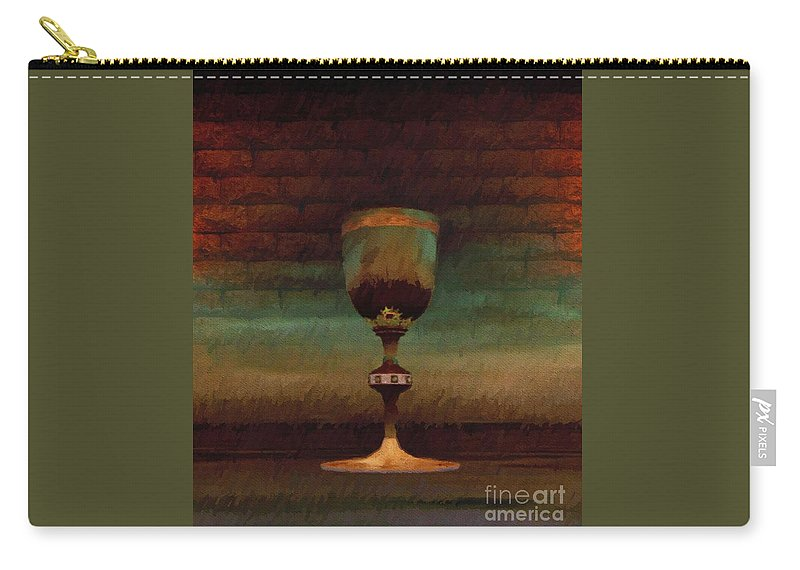 Holy Carry-all Pouch featuring the painting Holy Grail by Esoterica Art Agency