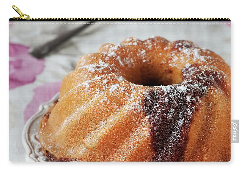 Temptation Carry-all Pouch featuring the photograph Homemade Cake With Chocolate by Oxana Denezhkina