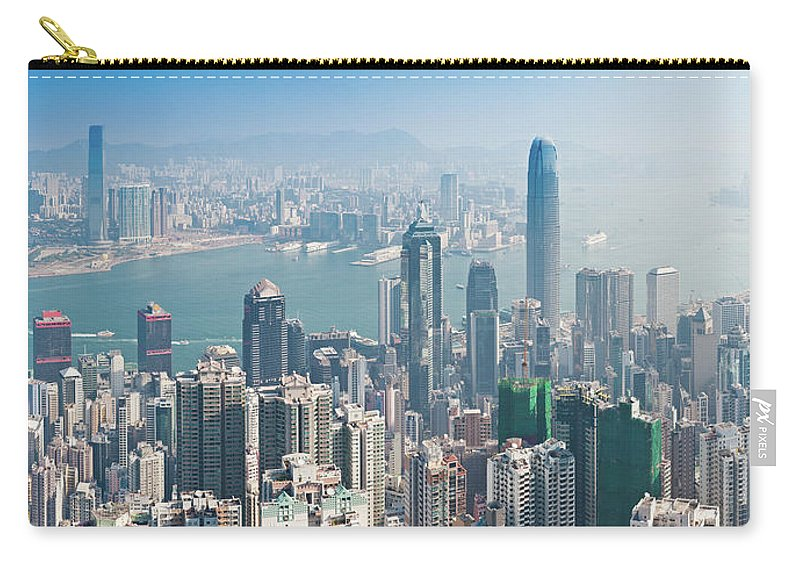 New Territories Carry-all Pouch featuring the photograph Hong Kong Iconic Skyscraper City by Fotovoyager