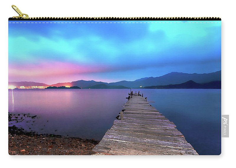 New Territories Carry-all Pouch featuring the photograph Hong Kong - Wu Kai Sha by Charlie Kwan