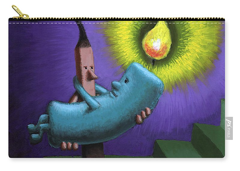 Candle Carry-all Pouch featuring the painting Hope by Sam Hurt