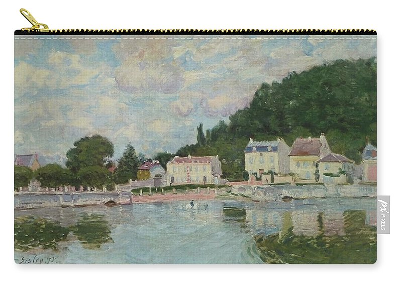 Alfred Sisley Carry-all Pouch featuring the painting Horses Being Watered At Marly-le-roi, 1875 by Alfred Sisley