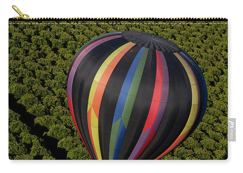 Tranquility Carry-all Pouch featuring the photograph Hot Air Balloon by Holly Harris