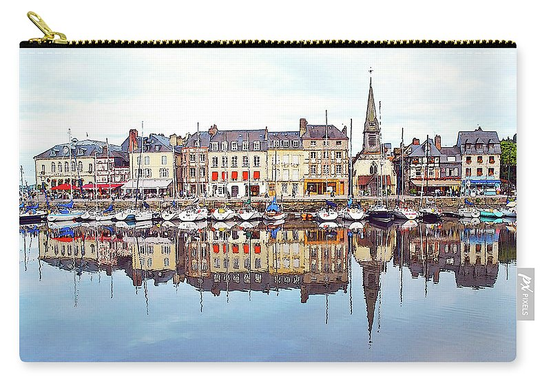 Tranquility Carry-all Pouch featuring the photograph Houses Reflection In River, Honfleur by Ana Souza