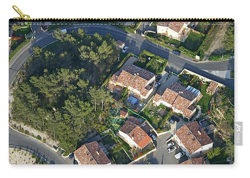 Tranquility Carry-all Pouch featuring the photograph Housing Development, Peypin, Aerial View by Sami Sarkis
