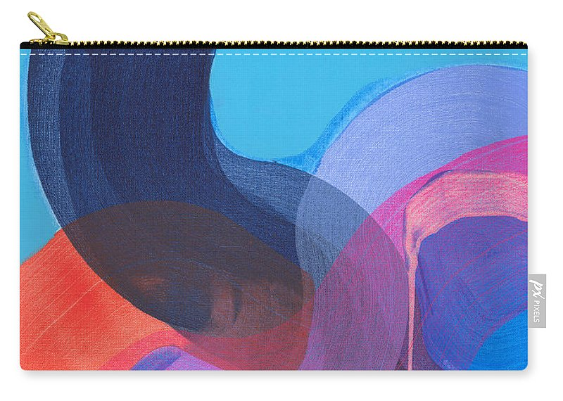 Abstract Carry-all Pouch featuring the painting How Did It Get To Be So Late? by Claire Desjardins