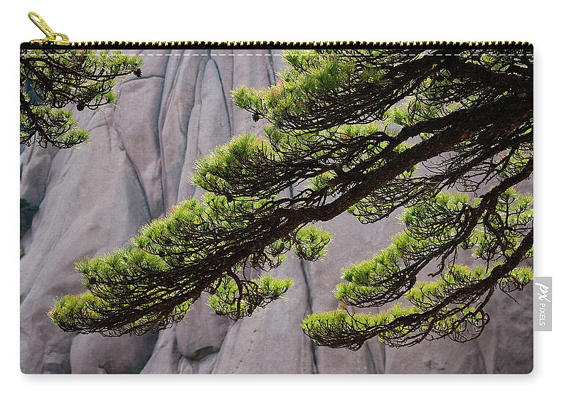 Chinese Culture Carry-all Pouch featuring the photograph Huang Shan Landscape, China by Mint Images/ Art Wolfe
