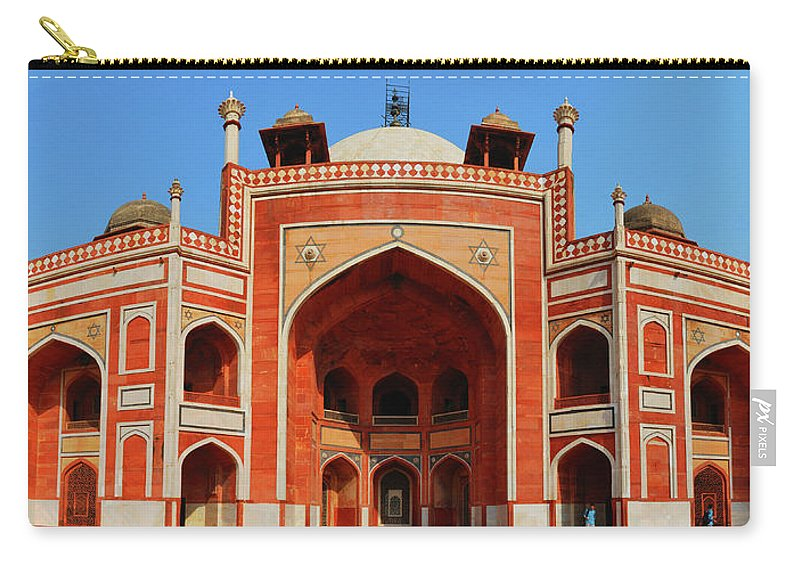 Arch Carry-all Pouch featuring the photograph Humayuns Tomb, New Delhi by Mukul Banerjee Photography