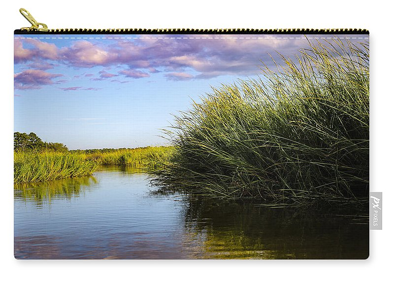 Sunset Carry-all Pouch featuring the photograph Hurricane Clouds by Victoria Williams