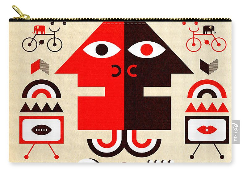 North Carolina Carry-all Pouch featuring the digital art Hurricane Man by Scott Partridge