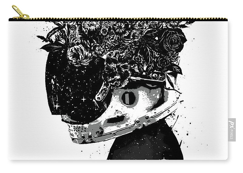 Girl Carry-all Pouch featuring the mixed media Hybrid girl by Balazs Solti