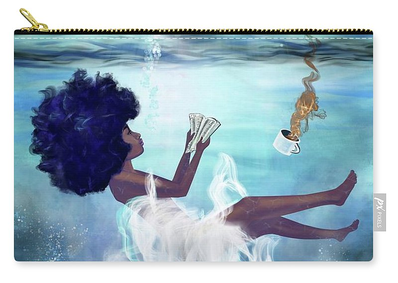 Bible Carry-all Pouch featuring the painting I aint drowning by Artist RiA