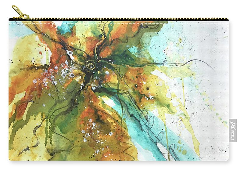 Abstract Carry-all Pouch featuring the painting I March To My Drum by Deborah Younglao